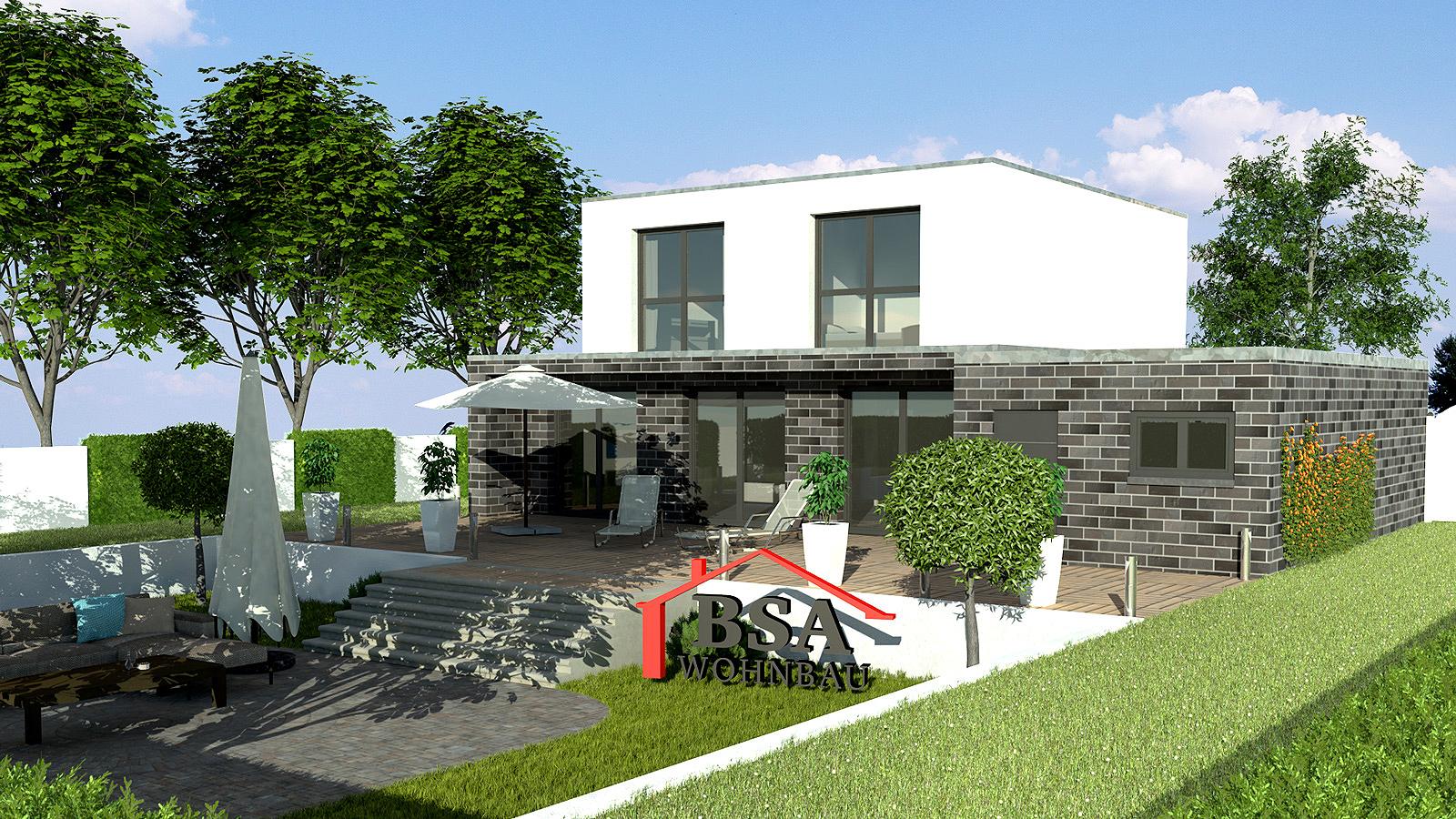 cube 142 kreatives bauhausstil haus bsa wohnbau bautr ger generalunternehmer. Black Bedroom Furniture Sets. Home Design Ideas