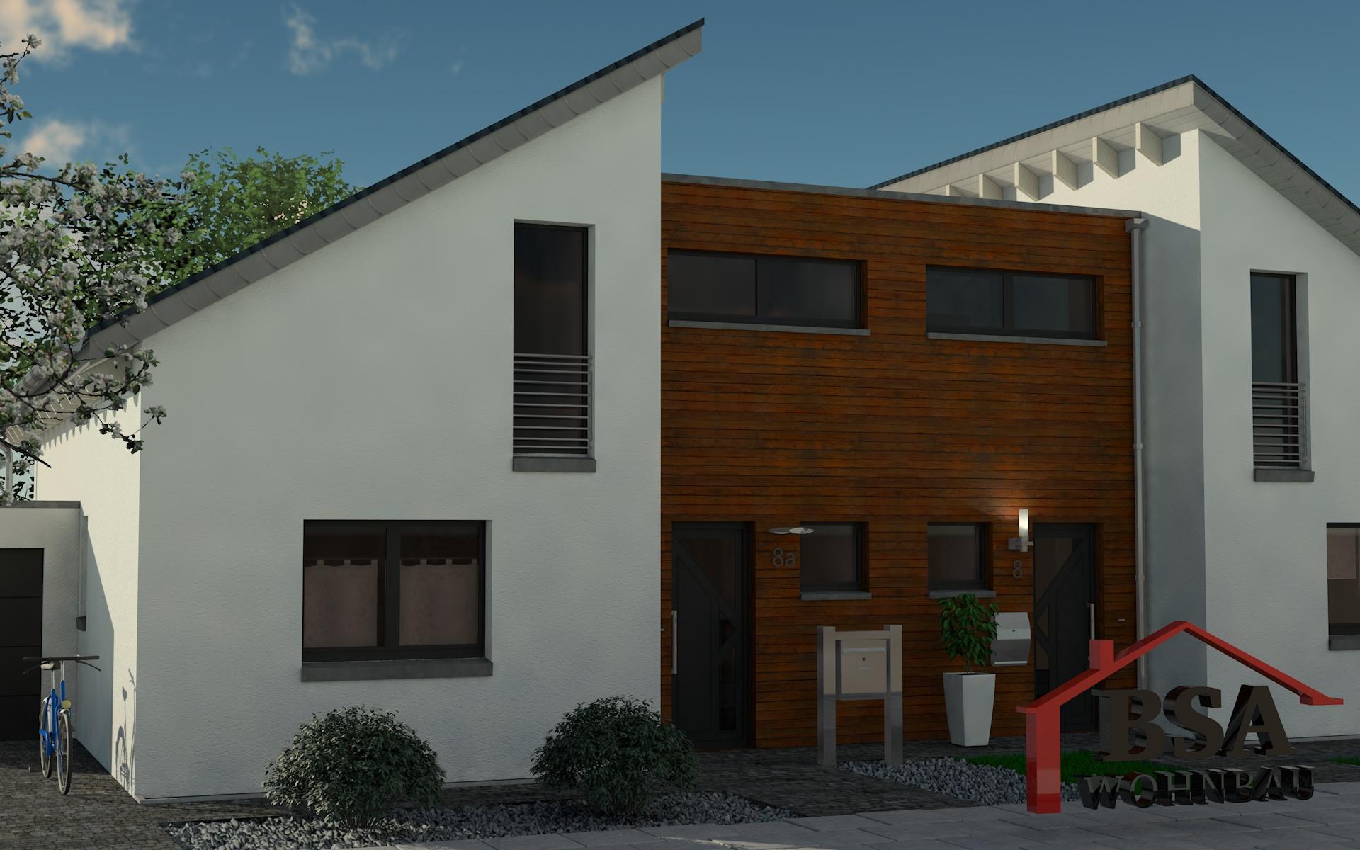 Turbo Creative 115 - BSA Wohnbau - kreatives Doppelhaus mit Pultdach AA91