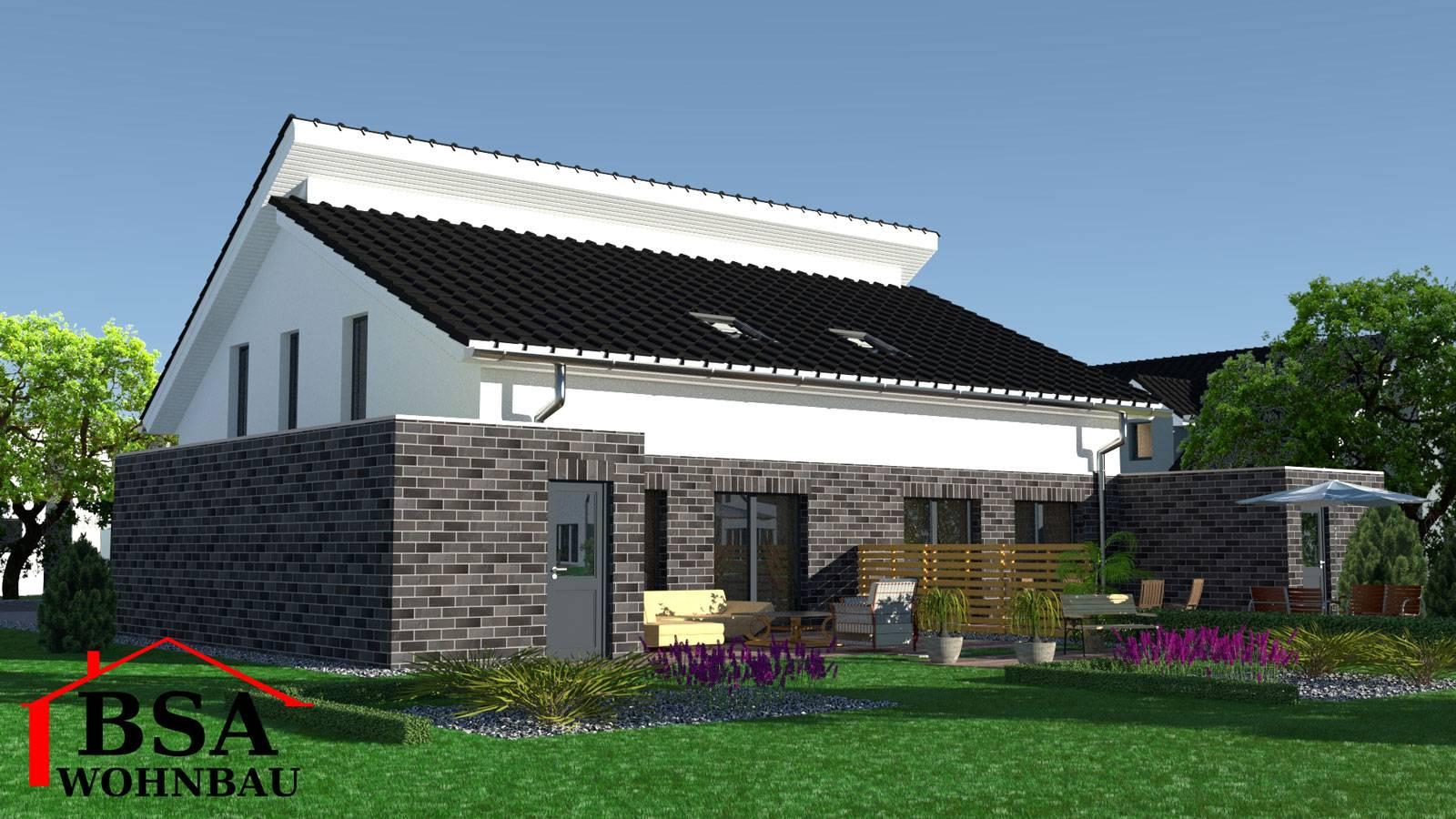 Häufig Doppelhaushälfte mit bodentiefen Fenstern und gerader Wohntreppe PR15